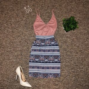 Charlotte Russe outfit bodysuit and bodycon skirt